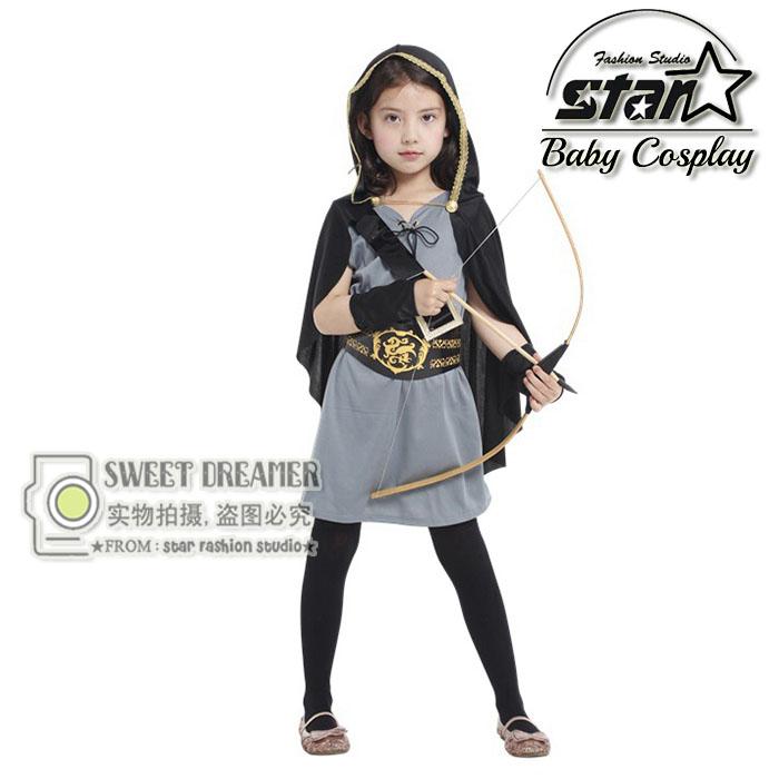 Green Arrow Costume font b Children b font Girls font b Dress b font Deguisement Halloween