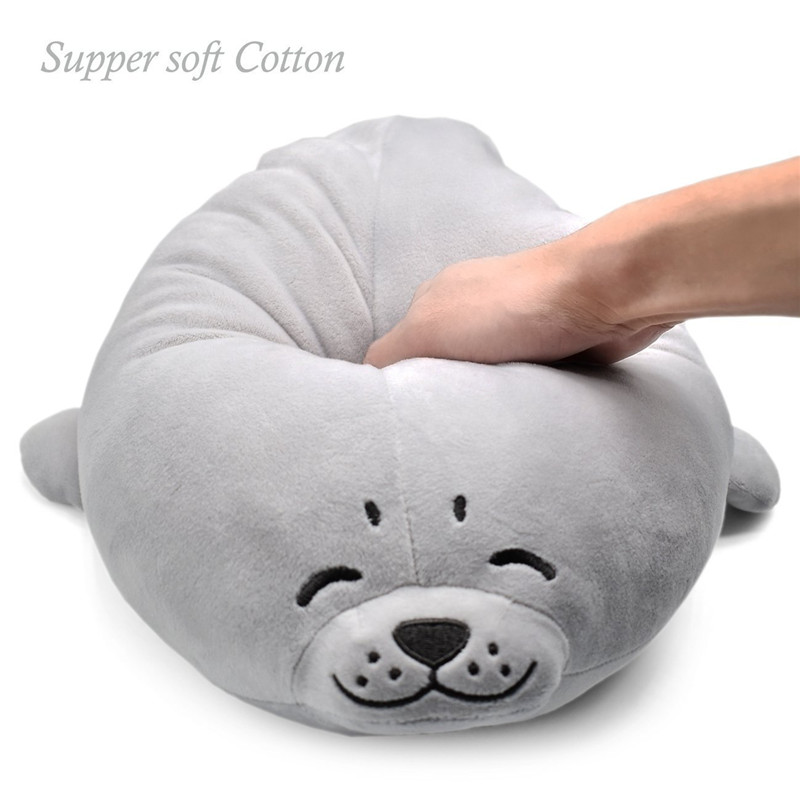 Cute super soft stuffed animal toy baby bolster pillow