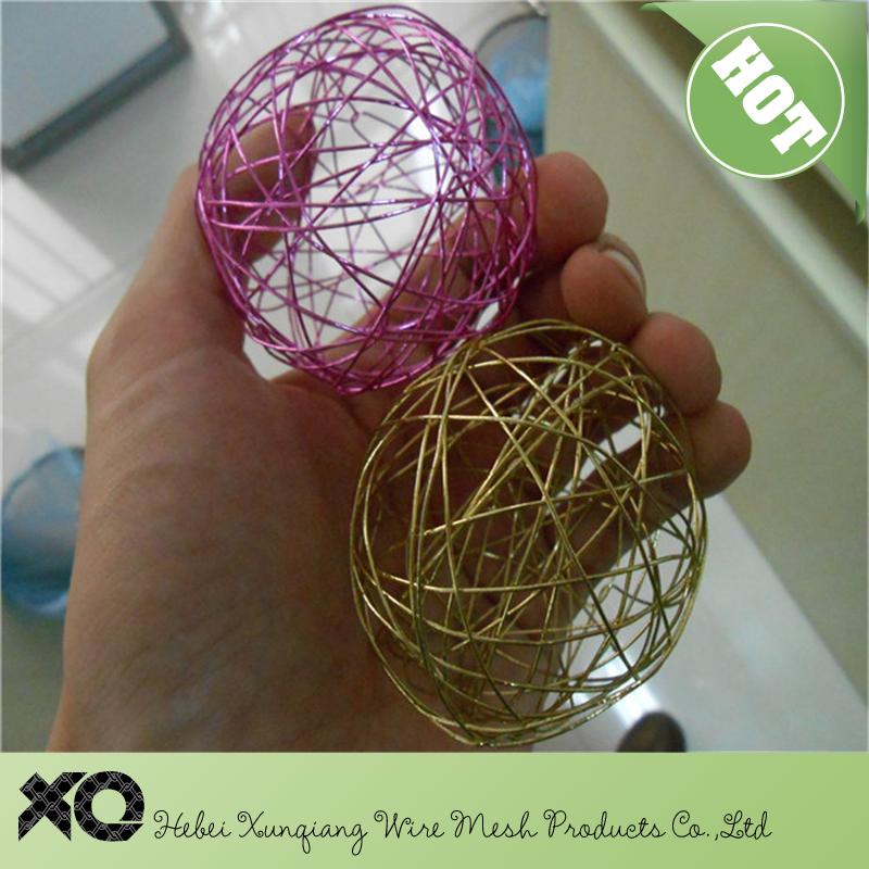 Aparador Vidro Preto ~ Bolas de arame de artesanato de alumínio colorido