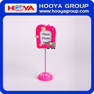 wholesale decorative cartoon promotional Mini PVC photo frame stand