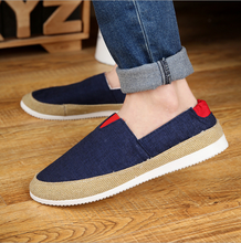 wholesale Fashionable breathable casual canvas shoes loafer shoes men