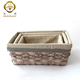Beautiful Vintage Grass Storage Basket Hamper for Home Sundries