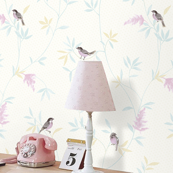 TN101 Bird Cute Carton Wallpaper For Girls Room