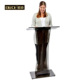 Trade Assurance Portable Transparent Black Plexiglass Acrylic Lectern