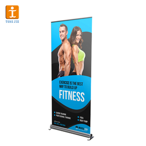 Alibab APP often recommended for you Tongjie High quality Aluminum roll up banner,Retractable banner stand