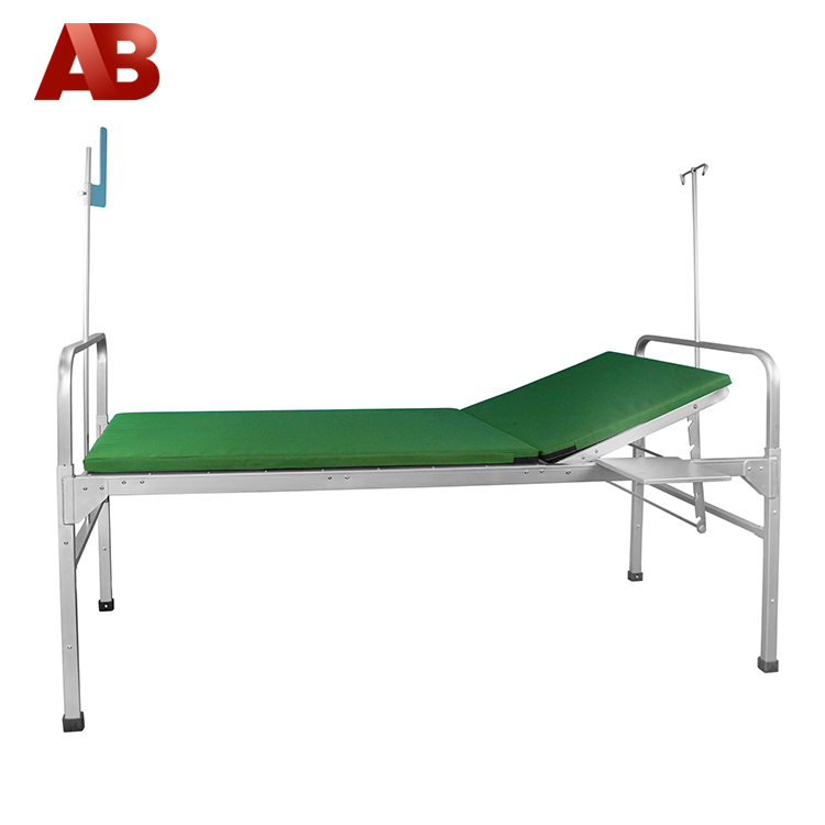 manual adjustable backrest folding hospital bed