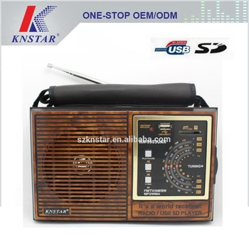 KN 9933UAR Portable AM FM Radio With Usb Sd Music Player