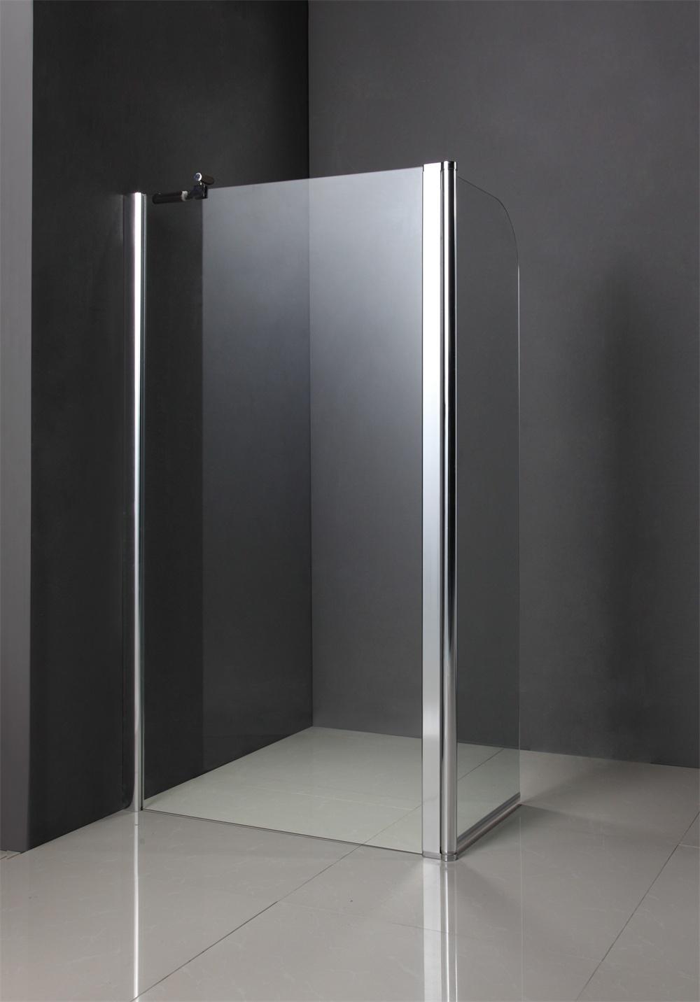 Custom Temporary Glass Shower Door