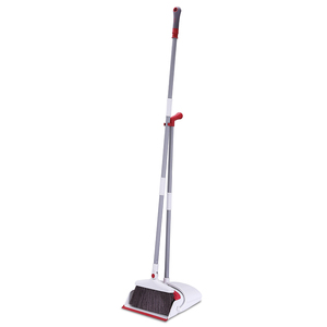soft plastic broom head with stainless steel stick dustpan and broom set for house