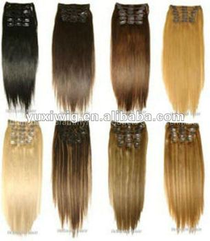 fashion 26 inch human hair remy clip in hair extensions