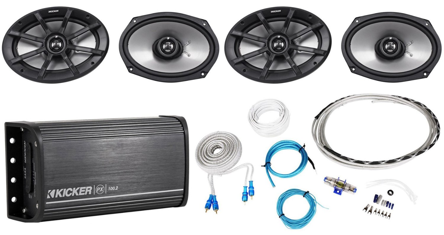Cheap Kicker 2 Channel Amp Find Deals On Line Wiring Kit Get Quotations Package2pairs Of 40ps692 6x9 Ohm Atv
