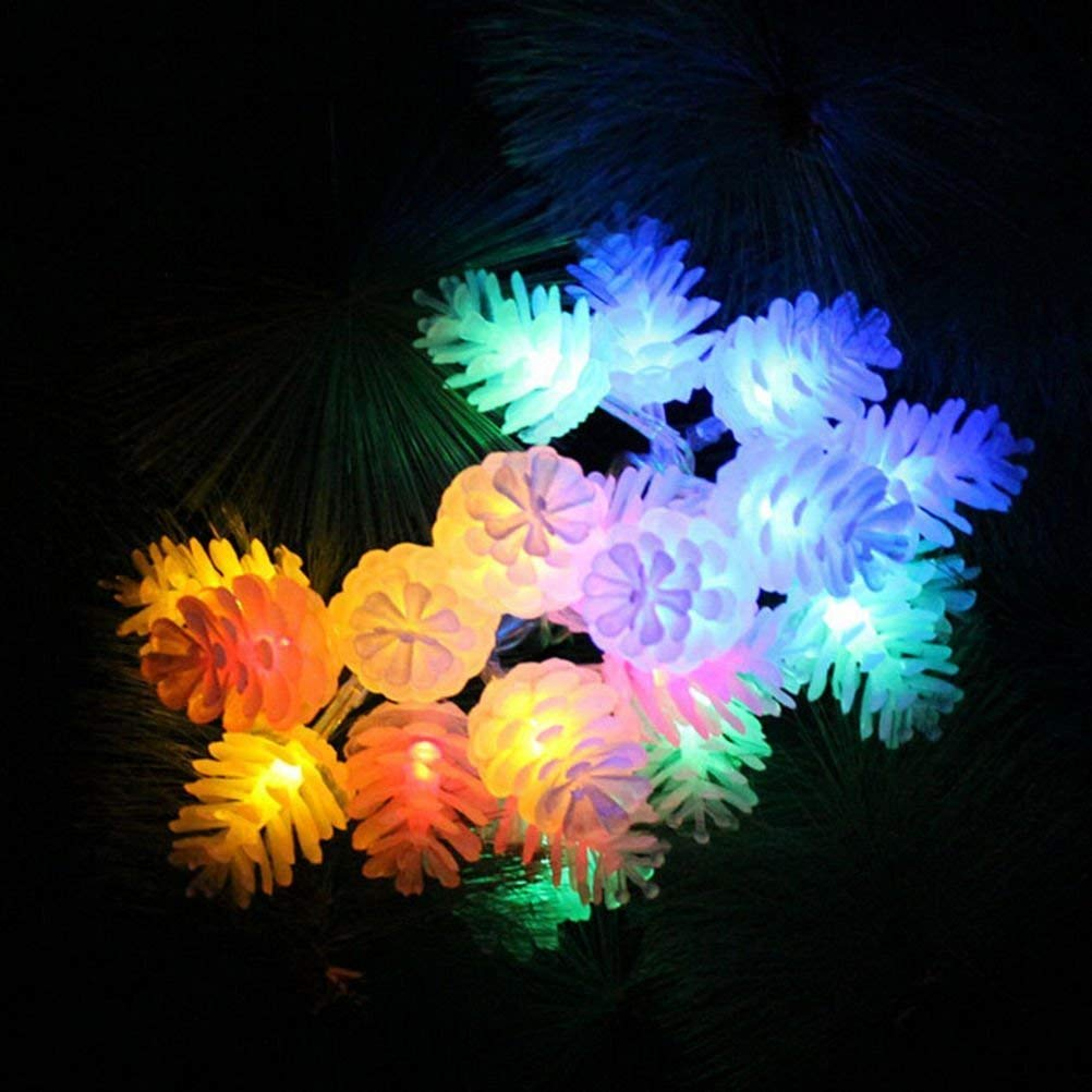 BYBYCD Fairy Lights Pine Cone String Light String Lights, 87 Inch 20 LED String Fairy Decorative Lights for Home, Garden, Patio, Yard, Christmas Tree, Parties (Multi Color)