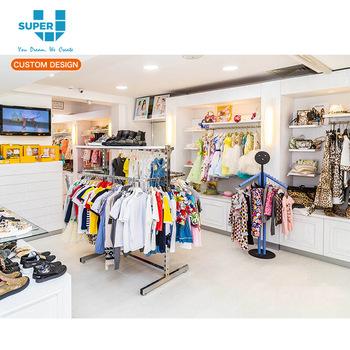 Top Grade Guangzhou Children Store Display Stands Kids Wear Retail Store  Display