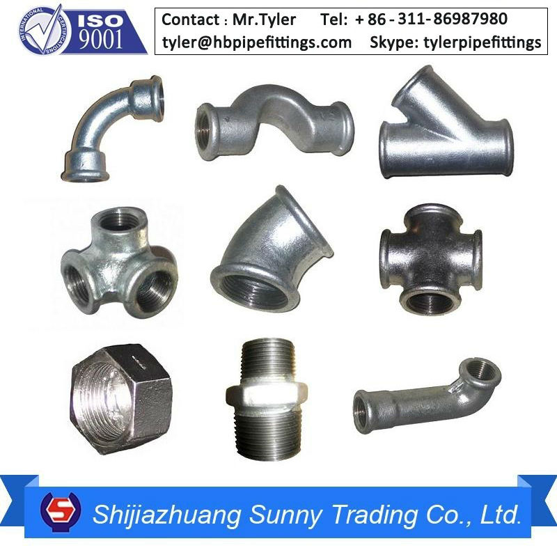 Malleable iron npt thread gi pipe fittings beaded buy