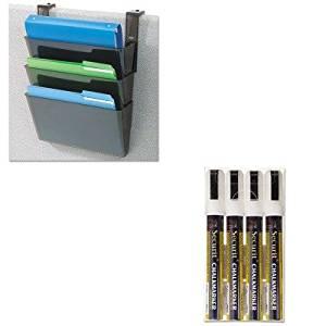 KITDEF73504DEFSMA510V4WT - Value Kit - Deflect-o DocuPocket Three-Pocket Partition Set (DEF73504) and Securit Liquid Chalk Marker (DEFSMA510V4WT)
