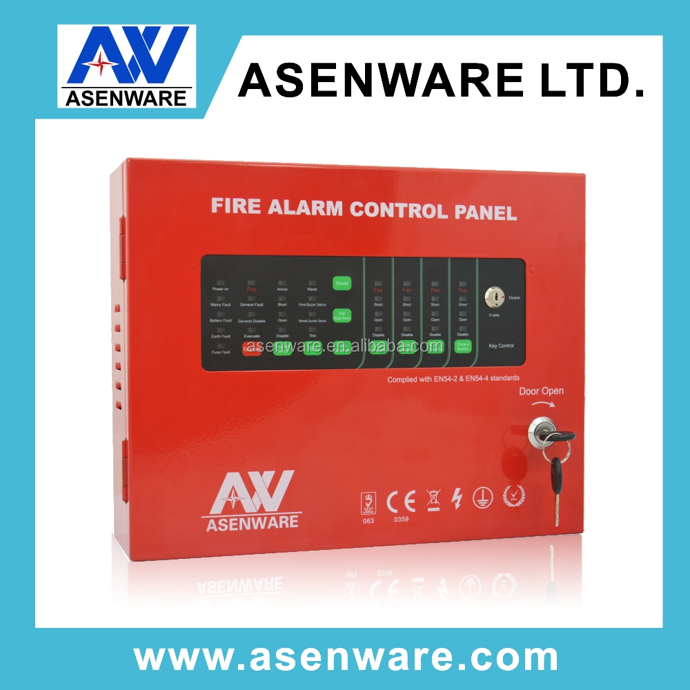 1 to 32 Zone 2 Wires Network 24V Coventional Fire Detection Alarm System Control Panel