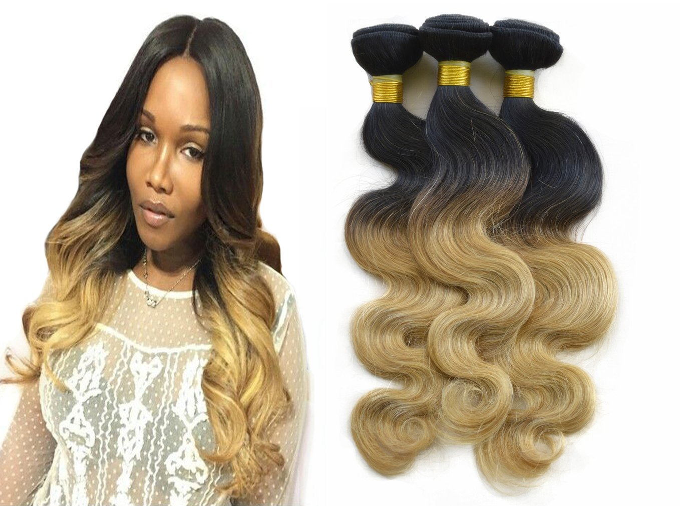 Buy Blonde Ombre Hair Bundles Babe Hair 3 Pieces Cheap 10 26 Inch