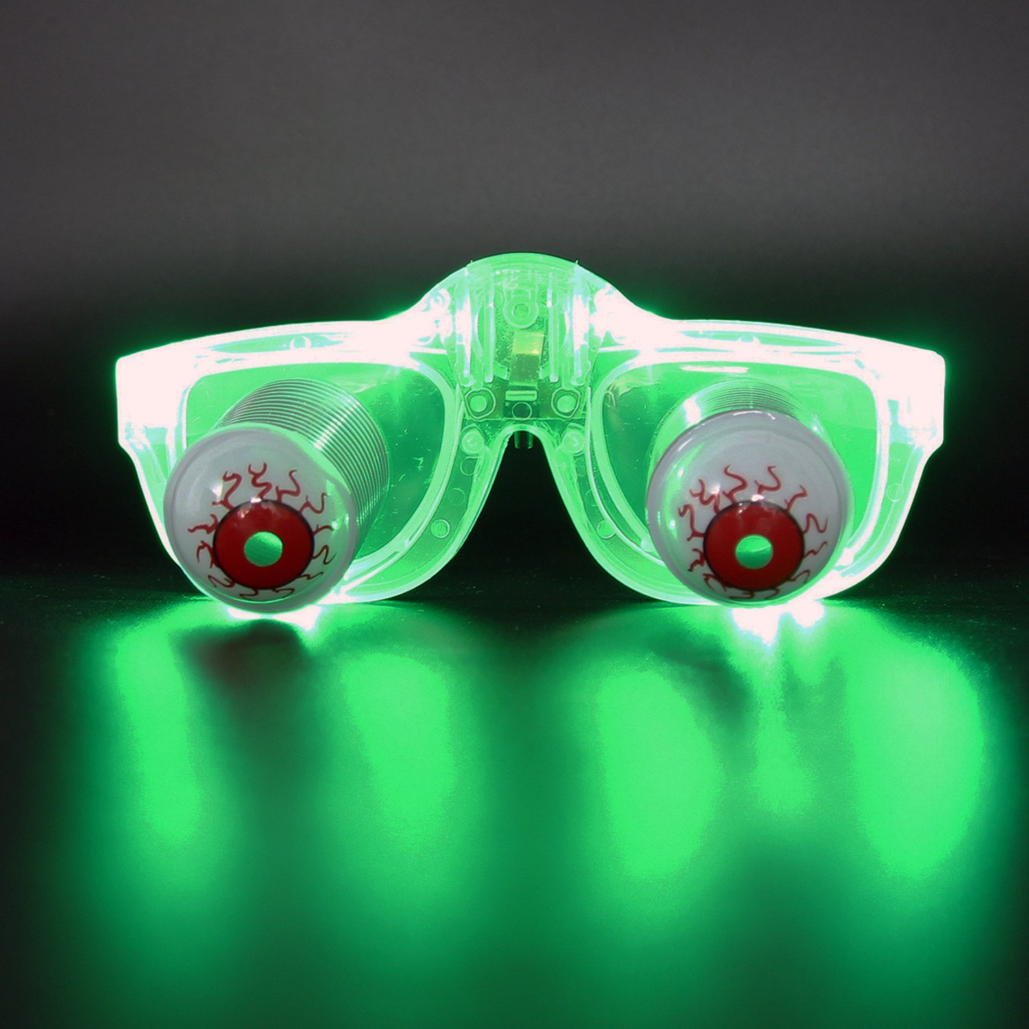 95257956d3f19 Get Quotations · DA XIN Light Up Pop Out Eyes Glasses Droopy Eyes Glasses  Goofy Slinky Pop Out Eye
