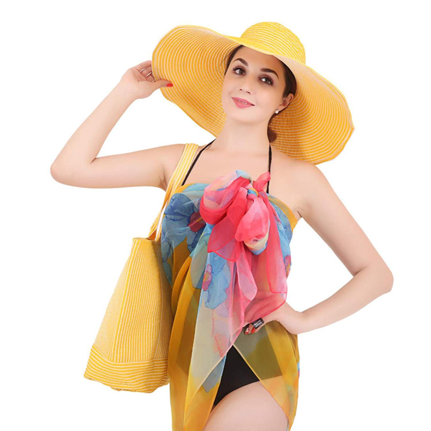 SxKgbSze Beach Hat Summer Hats for Women Fashion Girls Color HatsCasual Solid Cotton Polyester Hat