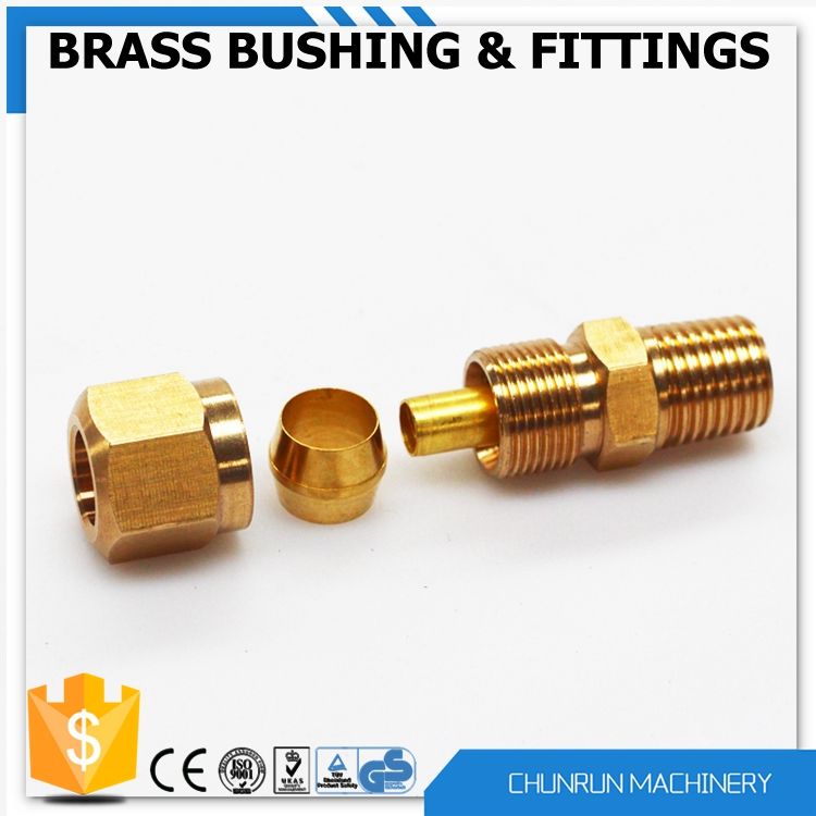 Cr low price brass parts copper pipe flare fitting