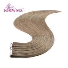 K.S парики 10 шт. Remy бесшовные волосы уток человеческих трессы любовь лента на наращивание волос 16 ''20'' 24''(Китай)