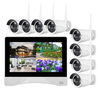 h265 wifi nvr kit long range 8 security camera wireless outdoor complete set 1080p wireless nvr security kit