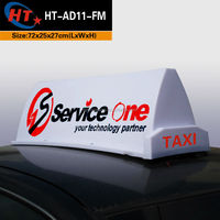 Car roof top advertising decorative light boxes