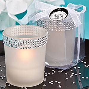<em>Bling Collection</em> White Candle Holders, 96