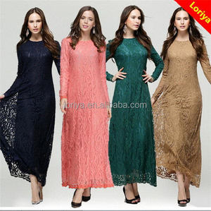 Islamic Muslim Dress Abaya With Hijab Ladies Long Sleeve 2016