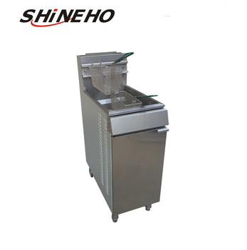 F003 Small Potato Chips Fryer Machine Used For Gas