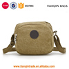 Promotional Small Canvas Shoulder Bag Travel Organiser Cell Phone Pouch Coin Purse(Khaki)