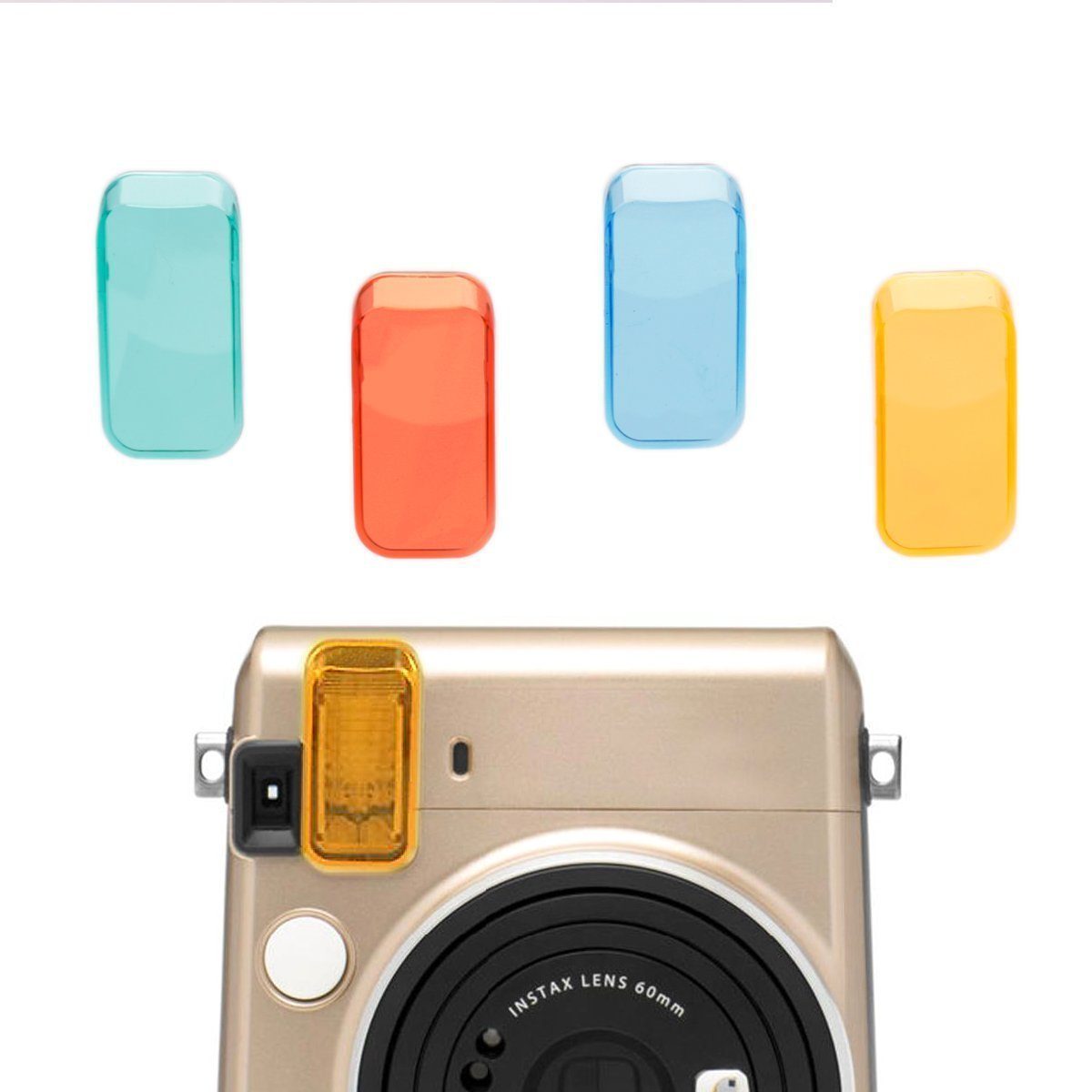 Colored Filter Close-Up Lens,Hellohelio Fujifilm Instax Mini 70 Cameras Lenses,4pcs in a suit (Red Blue Yellow Green)