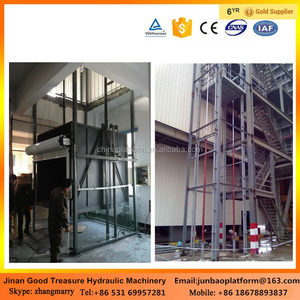 building construction materials hydraulic platform lift