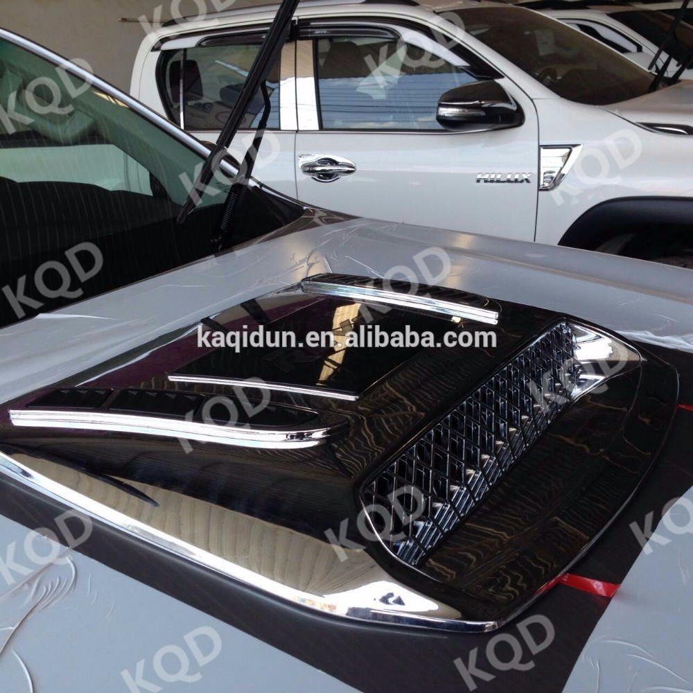 Matte Black Toyota Camry >> Car Body Kit Engine Hood Scoop Cover Accessories For Toyota Fortuner 2016 - Buy Engine Hood ...