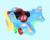 best selling lovely battery operated airplane toy with lights music