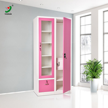 Indian bedroom furntiure clothes Godrej steel glass door Almirah wardrobe