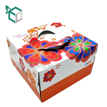 creative design 12 inch cake boxes cardboard paper packaging large cake box