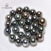 Wholesale High Quality 8-12mm A+ Saltwater Tahitian Black Loose Pearls For Sale