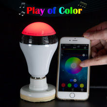 New Android IOS Smart LED Light Bulb with Speaker Smart Dimmable Multicolored Color Changing