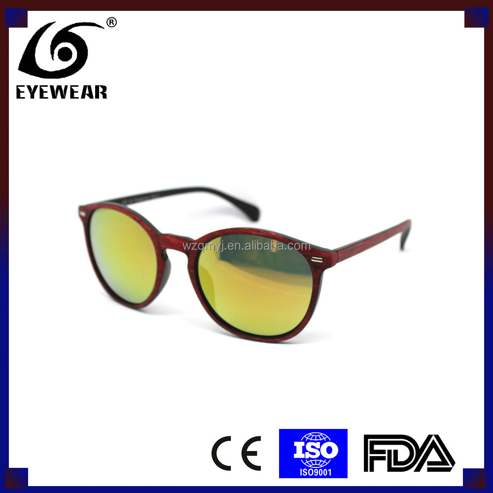 5304 Plastic sunglasses retro imitation wood plastic sunglasses