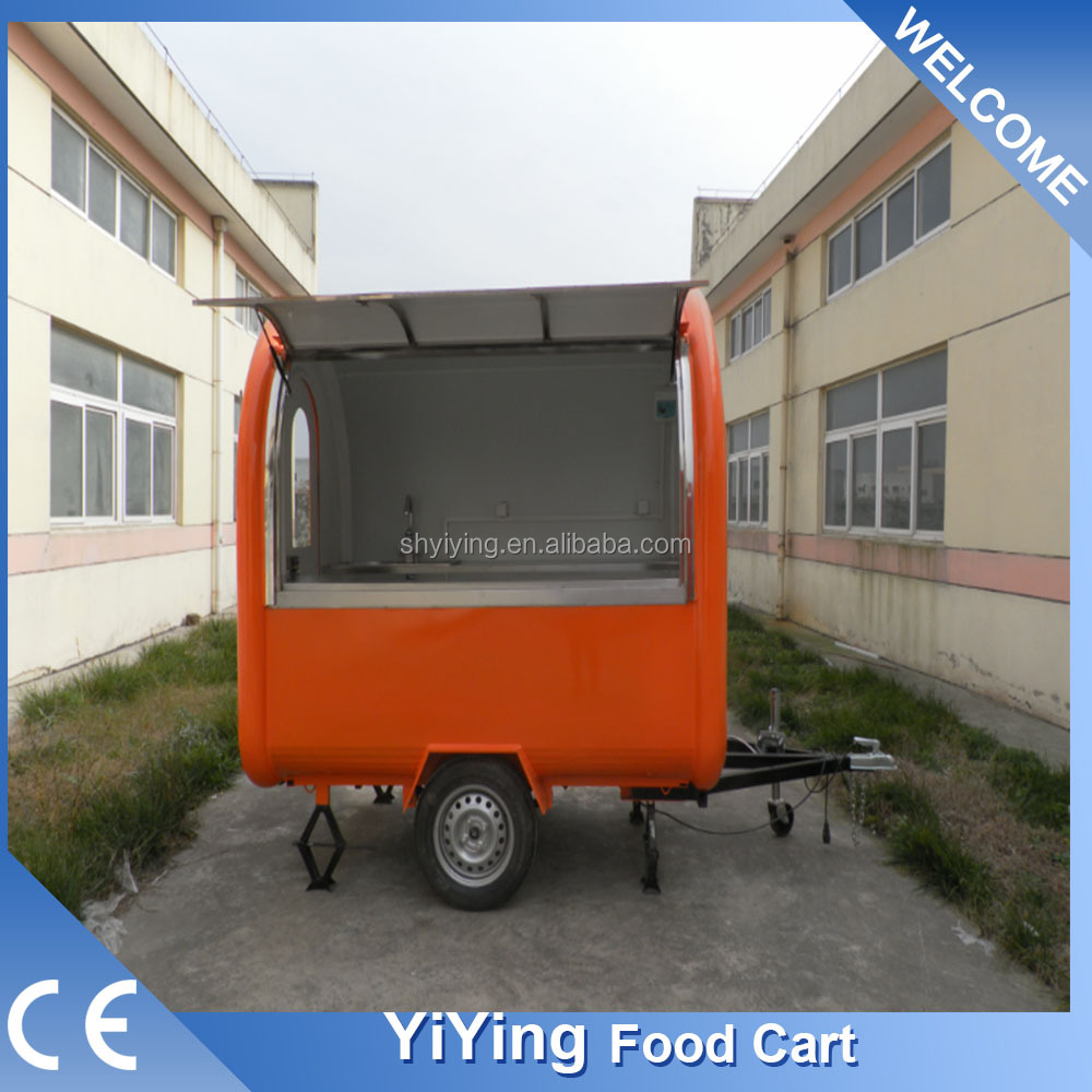 YY-FR220B CE 2017Hot sale hot dog carts for ice cream prices fast food mobile kitchen small atv trailer
