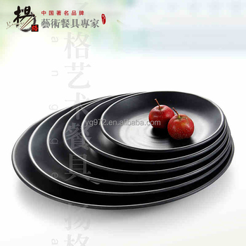 Wholesale Durable Black Cheap Melamine Plates,Wholesale Dinner ...