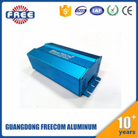 Customized External Extruded Aluminum Driver Box for LED Light, Square LED Power supply box