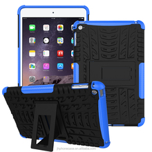Unbreakable durable light steathy stand armor cover for Apple iPad mini 2 3 4 cute case