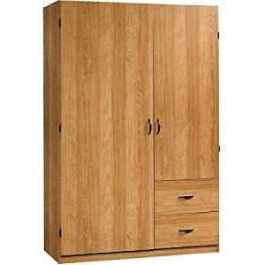 Sauder Beginnings Wardrobe/Storage Cabinet, Highland Oak