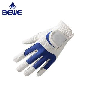 2018 Factory 4 Pillar Wholesale high quality great grip mens white cabretta leather Anti-slip custom golf gloves