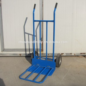 China manufacturer metal easy folding hand trolley with two wheel