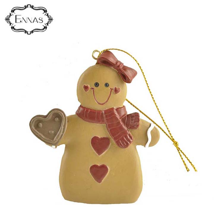 Christmas Decoration Gingerbread Ornament with Heart