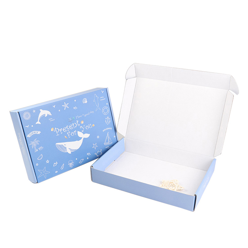 Custom luxury printed unique white corrugated colored shipping boxes