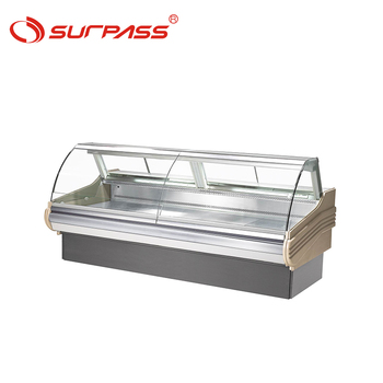 Self-service two glass doors refrigerator supermarket freezer